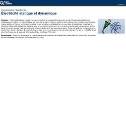 Électricité statique et électricité dynamique