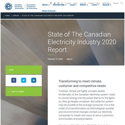 State of The Canadian Electricity Industry 2020 Report - Canadian Electricity Association