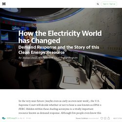 How the Electricity World has Changed