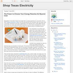 Shop Texas Electricity: The Power to Choose Your Energy Reaches far Beyond Cost