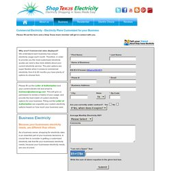 Compare Business Electricity Rates - Commercial Energy Rates Texas
