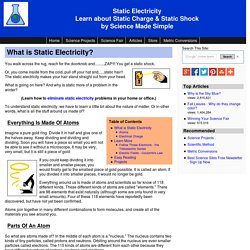 Static electricity - What creates static charge & static shock? Learn how to create & eliminate it