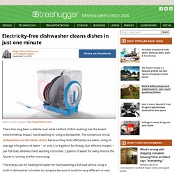 Electricity-free dishwasher cleans dishes in just one minute