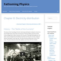 Chapter 8: Electricity distribution