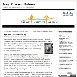 Dynamic Electricity Pricing