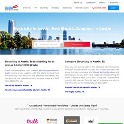 Electricity in Austin, Best Electric Company in Austin