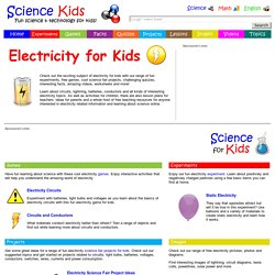 Electricity for Kids - Fun Experiments, Free Games, Cool Projects, Science Online