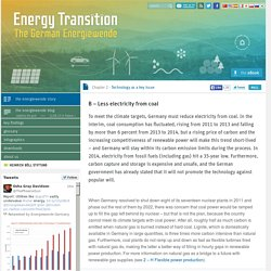B – Less electricity from coal