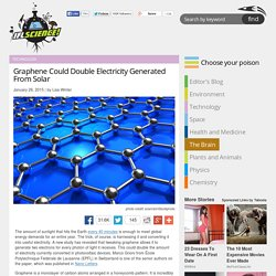Graphene Could Double Electricity Generated From Solar
