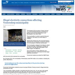 Illegal electricity connections affecting Ventersdorp municipality:Monday 14 July 2014