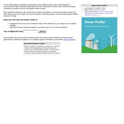 How clean is the electricity I use? - Power Profiler
