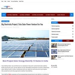 Tata Solar Power Venture For You