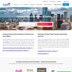 Electricity providers in Dallas, Electric Company, Cheap Electric Rate