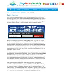 Compare Dallas Electricity Rates from Reliable Energy Providers
