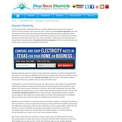 Compare Houston Electricity Rates from Reliable Energy Providers