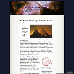 The Pyramid Parallax: Light, Electricity & Music of the Spheres