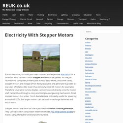Electricity With Stepper Motors