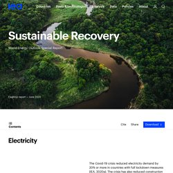 Electricity – Sustainable Recovery – Analysis - IEA