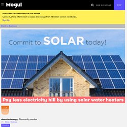 Pay less electricity bill by using solar