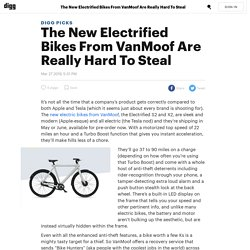 The New Electrified Bikes From VanMoof Are Really Hard To Steal