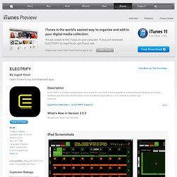 ELECTRIFY for iPad on the iTunes App Store