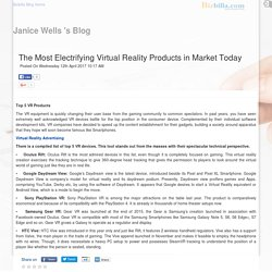 The Most Electrifying Virtual Reality Products in Market Today