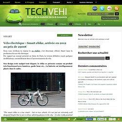 Vélo électrique : Smart ebike, arrivée en 2012 au prix de 2900€