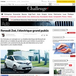 Star du Salon : la Renault Zoé ou l'électrique grand public