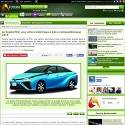 La Toyota FCV, une voiture électrique à pile à combustible pour 2015