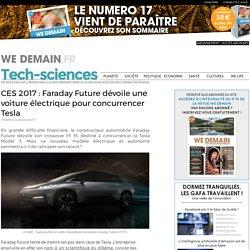 CES 2017 : Faraday Future dévoile une voiture électrique pour concurrencer Tesla