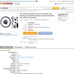 48v 1000w roue arrière e vélo, e vélo, ebike, vélo électrique, vélo électrique kits de conversion brushless dans de sur Aliexpress.com