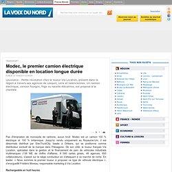 Modec, le premier camion électrique disponible en location longue durée