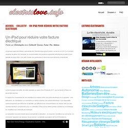 Un iPad pour réduire votre facture électrique - Domotique, Smart Grids