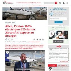 Alice, l'avion 100% électrique d'Eviation Aircraft s'expose au Bourget