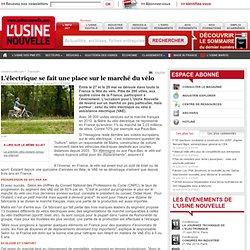 L'électrique se fait une place sur le marché du vélo