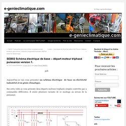 SEB 02 Schéma électrique base - départ moteur triphasé version 1