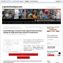 Froid19-Montage 3-chambre froide négative-Partie électrique câblage du single pump down amélioré