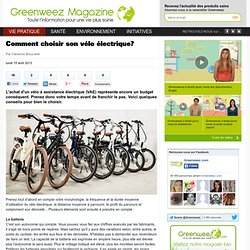 Comment choisir son vélo électrique? - Vie Saine Magazine