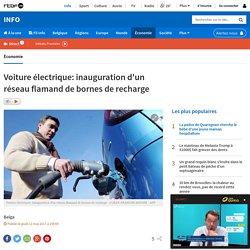 Voiture électrique: inauguration d'un réseau flamand de bornes de recharge