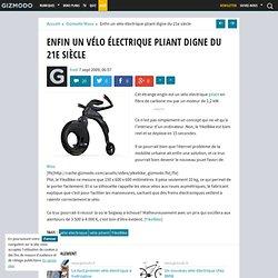 Enfin un vélo électrique pliant digne du 21e siècle - Gizmodo -