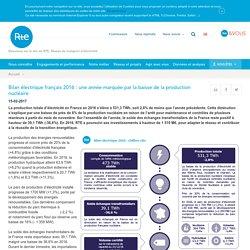 Bilan électrique français 2016 : une année marquée par la baisse de la production nucléaire