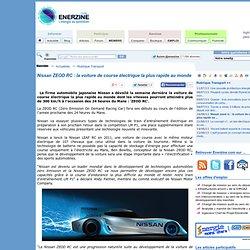 Nissan ZEOD RC : la voiture de course électrique la plus rapide au monde > Transport