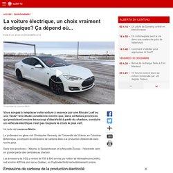 La voiture électrique, un choix vraiment écologique? Ça dépend où...