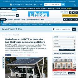 Ile-de-France : la RATP va tester des bus électriques commandés à Bolloré
