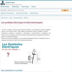 Les symboles électriques et électrotechniques