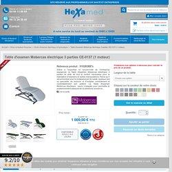 Table d'examen mobercas électrique 3 parties ce-0137 (1 moteur) - Hexamed : vente en ligne de Divans d'examen électriques et hydrauliques