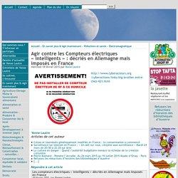 Agir contre les Compteurs électriques « intelligents » : décriés en Allemagne mais imposés en France