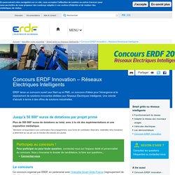 Concours ERDF Innovation – Réseaux Electriques Intelligents