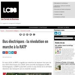 Bus électriques : la révolution en marche à la RATP