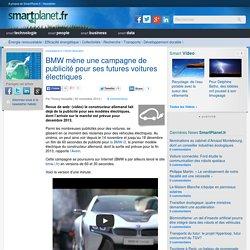 BMW mène une campagne de publicité pour ses futures voitures électriques